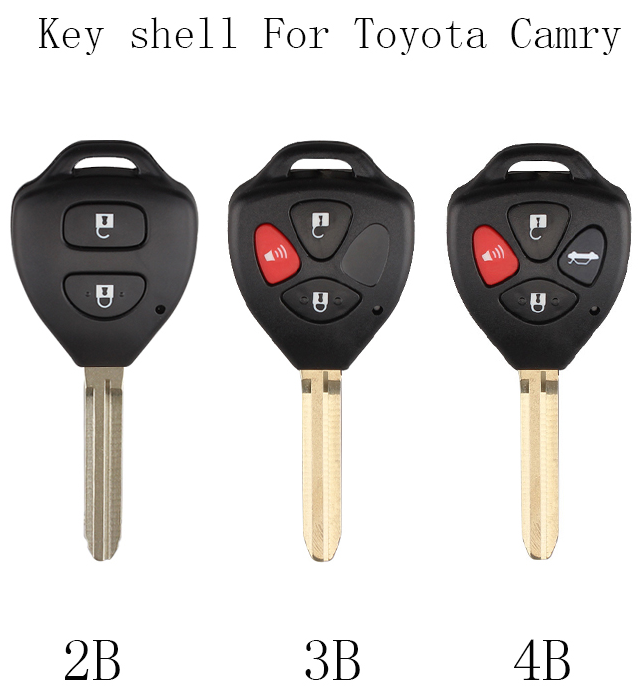 BR KEYS 2 3 4 Buttons Car Remote key shell Fob For Toyota Camry Corolla Avalon Venza 2007 2008 2009 2010 2011 2012 key Case