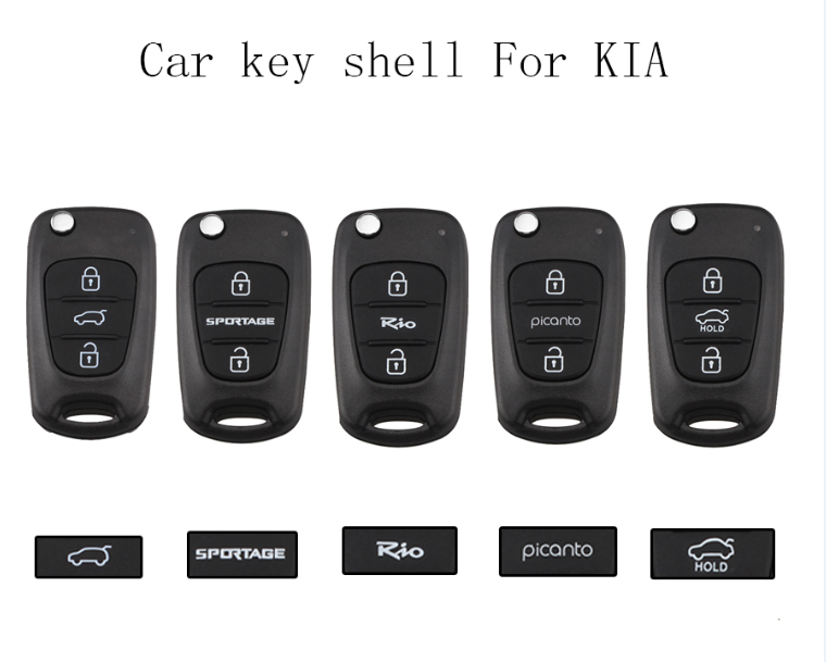 BR KEY 3Buttons Uncut Blade TOY40 Car key shell Case For KIA K2 K5 Rio Piconto Sportage 2006-2013 NO logo