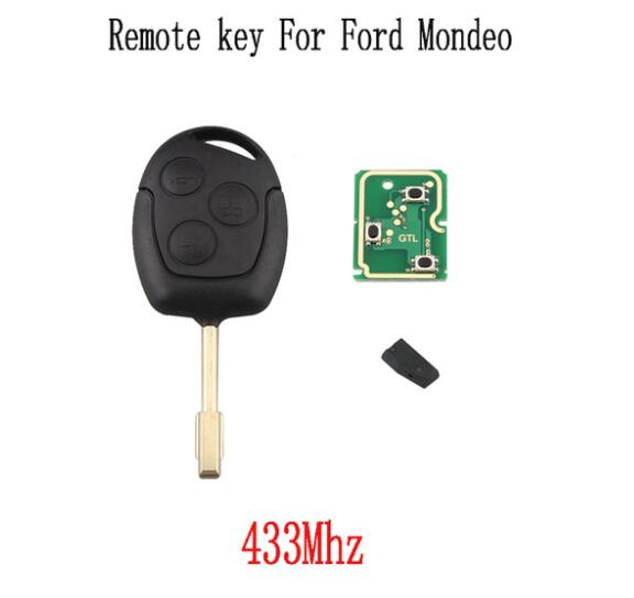 433Mhz Remote key Fob For Ford Fusion Focus Mondeo Fiesta Galaxy FO21 Blade Original key 4D60 4D63 or No Chip optional