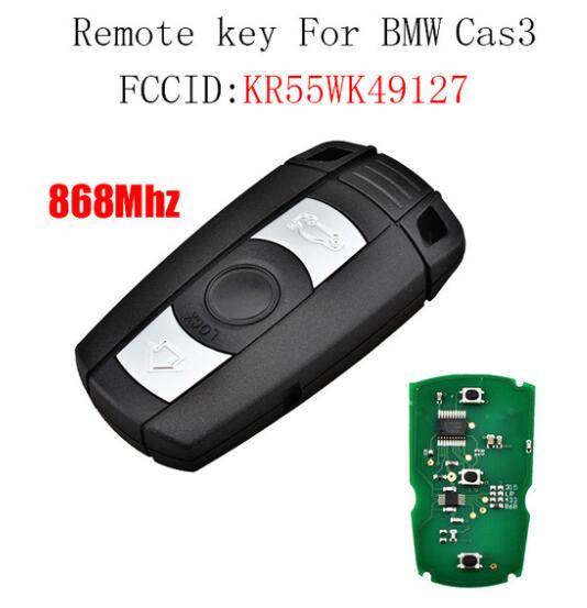 BR KEY 3BT Smart Remote Key Replacement for BMW CAS3 E60 E61 E70 E71 E72 E81 E82 E87 E88 E90 E91 E92 E93 868MHz PCF7945Chip