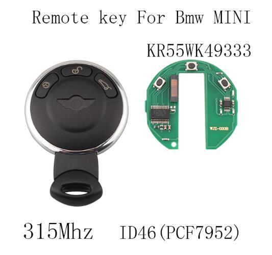 BR KEY 315Mhz Smart Remote Key Keyless Fob For BMW Mini Cooper 2007 2008 2009 2010 2011 2012 2013 2014 Original keys