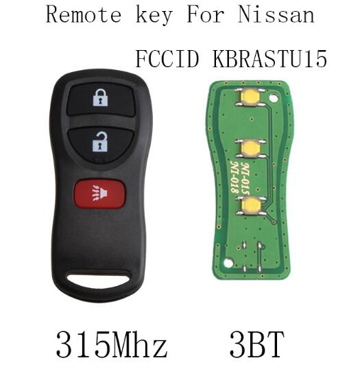 BR 3BT 315Mhz Remote key Fob DIY For Nissan Armada Frontier Murano Pathfinder Quest Titan Xterra 2002-2007 Original keys