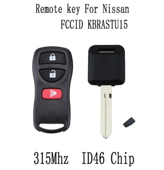 BR KEY 3Buttons 315Mhz Remote key For Nissan Versa 2007-2013 For Nissan Xterra 2005-2014 KBRASTU15 Original key