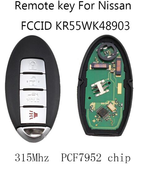 BR KEY 4Buttons 315Mhz Car Remote key Fob DIY For Nissan Altima Maxima Murano 2007 2008 2009 2010 2011 2012 PCF7952 chip