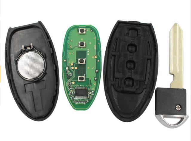 BR KEY 4 Buttons Keyless Entry Smart Remote Key Fob 3+1 Buttons 315MHz with ID46 Chip for Nissan New Sunny