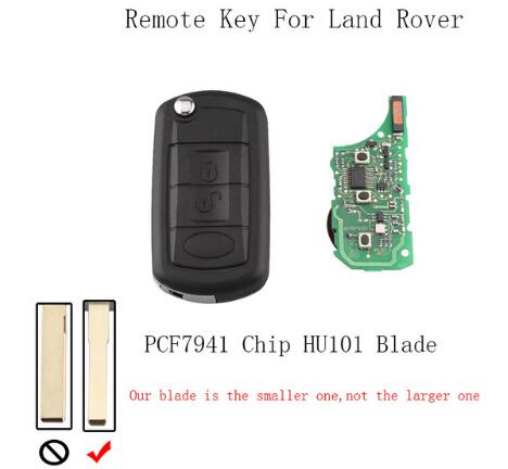 BR KEY 3BT 315/433Mhz FlipRemote Keyless Key Fob For Land Rover Range Rover L322 HSE Vogue PCF7941 Chip&HU101Blade