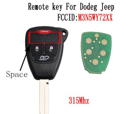 BR KEY  4Buttons Remote key Fob For Jeep Chrysler Pacifica Liberty 2004 2005 2006 2007 2008 M3N5WY72XX Original key 315Mhz
