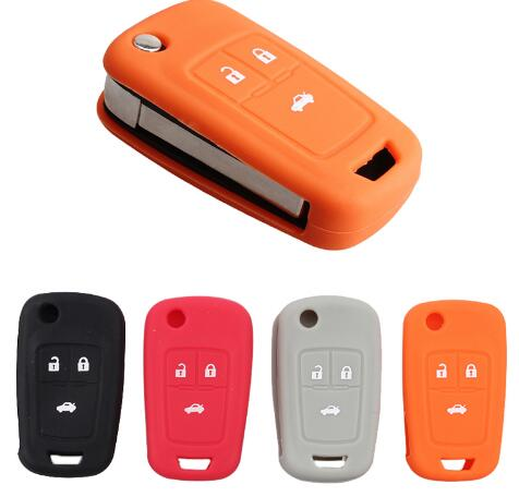 BR KEY 3 Button Silicone Car Key Cover For Chevrolet Cruze 2009 2010 2011 2012 2013 2014 4 colour Car Key Case