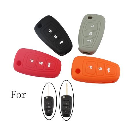 BR KEY 3Buttons Silicone Cover Car Styling Key Cover Case Holder Key Shell Set For Ford Focus Mondeo 1999-2007 Car key