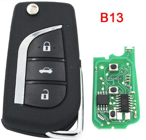 BR KEY Universal KD900 URG200 Remote Control 3 Button Key B Series B13 Style Can Be Programmed By KD900/KD200 Device