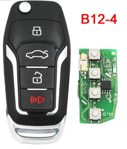 BR KEY B12-4 3+1 Button Remote Control Key F Style 4 Button Remote Smart Car Key Fob for KD900 KD900+ KD200 URG200 Mini KD