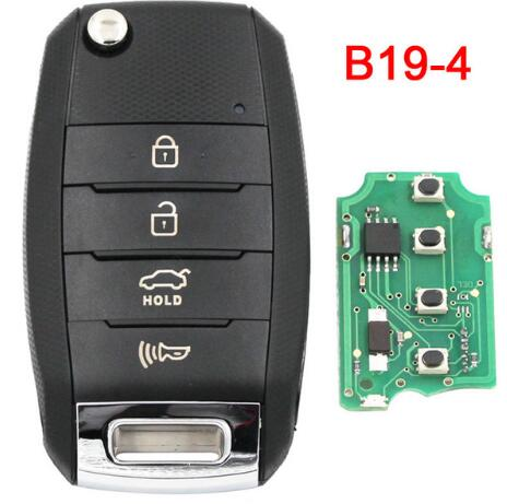 BR KEY B19-4 KD900 KD900+ KD200 URG200 Mini KD Remote Control 4 Button Key K Style Smart Car Key Universal Remote Key