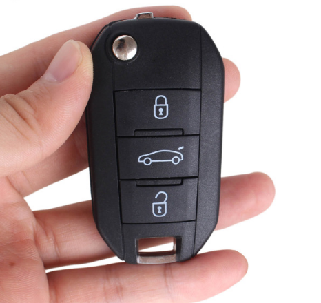 BR KEY 3 Buttons New Flip Key Shell for PEUGEOT 508 407 Remote Key Case Auto Parts Car-stlyling NO Blade