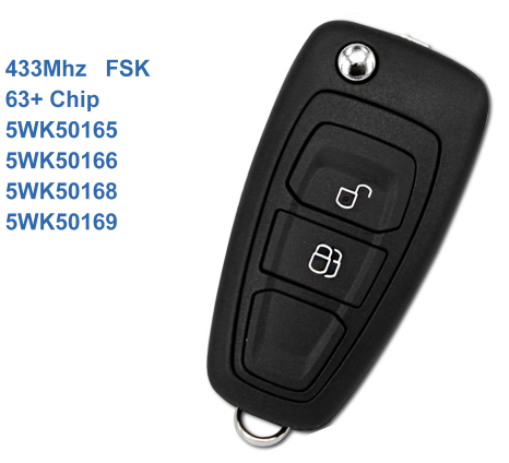 Ford 2 Buttons OEM Remote Flip Car Key For Ford Ranger C-Max Focus Grand C-Max Mondeo 5WK50165 5WK50166 5WK50168 5WK50169