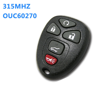 5 Button Remote Key 315MHz Fob for Chevrolet Buick Cadillac Enclave Escalade Equinox Suburb Traverse OUC60270