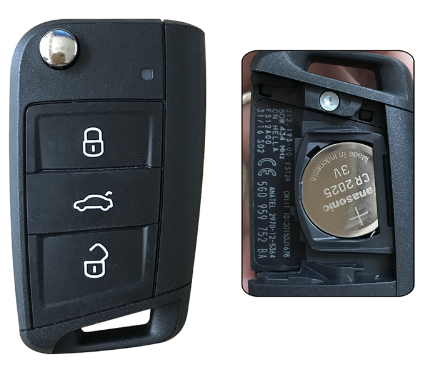 3 buttons Highly configured smart remote Original Made car key 433mhz for Volkswagen Tougou L;with 48 chips and 5G0959752BC